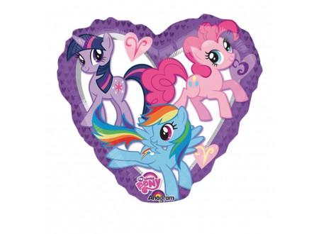 "Palloncino My Little Pony Heart 18"""