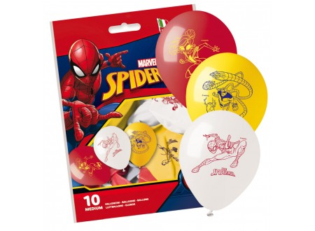 Palloncini Spiderman 10 pz