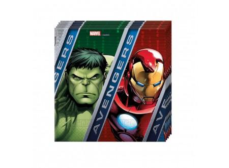 Tovaglioli cm. 33x33 Avengers cf. 20