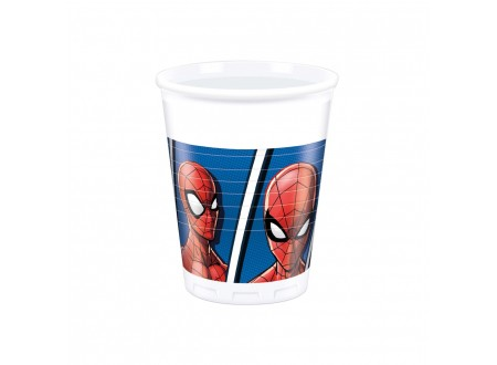 Bicchiere plastica ML 200 Spiderman cf. 8