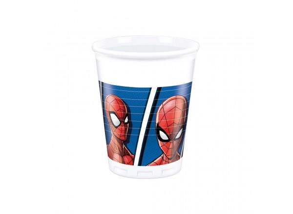 Bicchiere plastica ML 200 Spiderman cf. 8