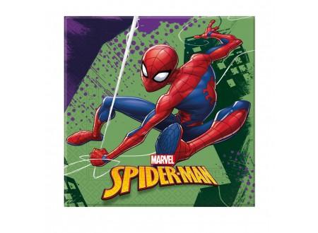 Tovaglioli cm. 33x33 Spiderman cf. 20