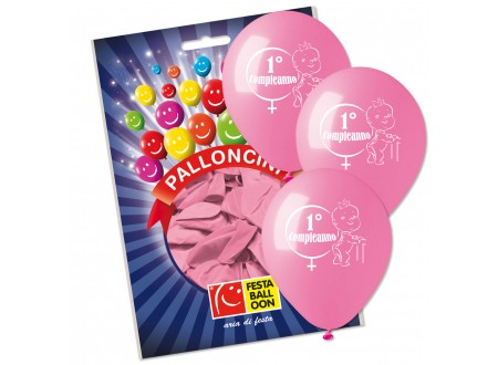 Palloncini Medium I° Compleanno Bimba cf. 16