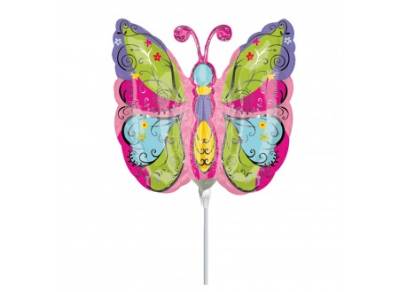 Palloncini in Mylar Whimsical Garden Butterfly Mini Shape