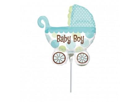 Palloncini in Mylar Baby Buggy Boy Mini Shape