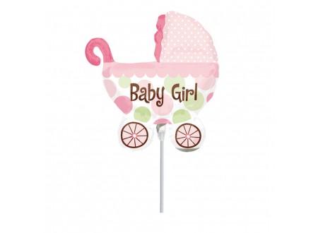 Palloncini in Mylar Baby Buggy Girl Mini Shape