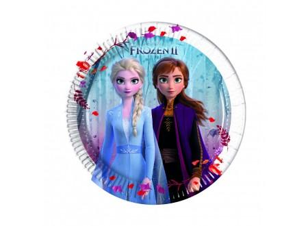 Frozen 2 - Piatto 20cm con Elsa e Anna