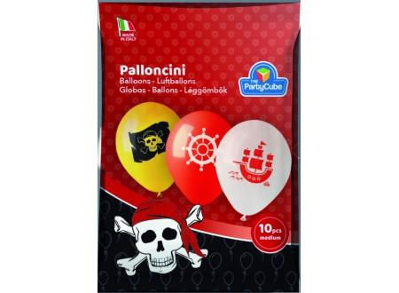 Palloncini Lattice Medium Pirati 10PZ