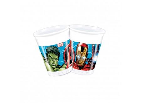 Bicchiere plastica ML 200 Avengers cf. 8