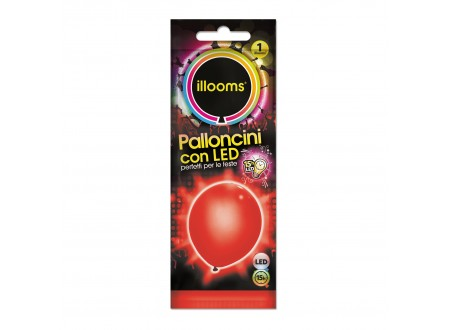 """Palloncini Led """"Illooms"""" - rosso cf. 1"""