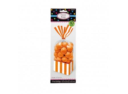 Sacc. per Caramelle Strisce Arancio