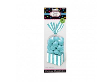 Sacc. per Caramelle Strisce Azzurro