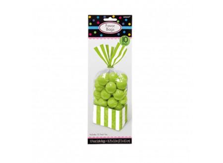 Sacc. per Caramelle Strisce Verde