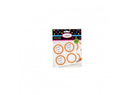 Etichette smerlate Arancio